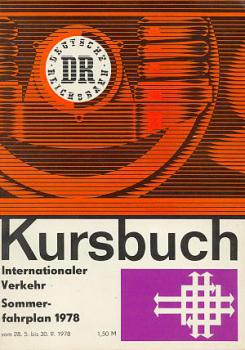 Kursbuch DR Internationaler Verkehr 1978