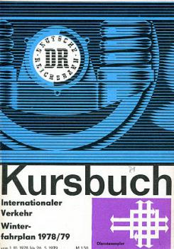 Kursbuch DR Internationaler Verkehr 1978 / 1979