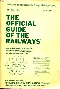 Kursbuch Timetable Guide of the Railways United States, Puerto Rico, Canada, Mexico and Cuba