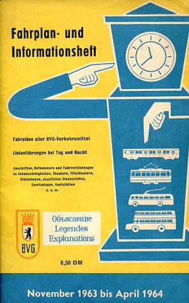 Eisenbahn Sammlershop Bvg Berlin Fahrplan Und Informationsheft